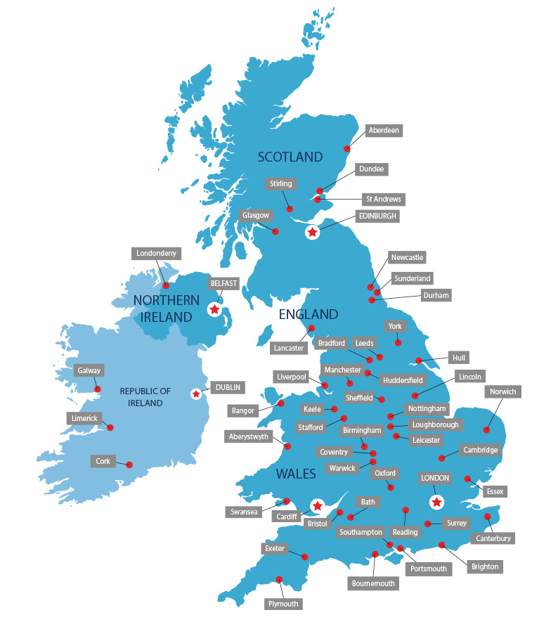 UK University Map